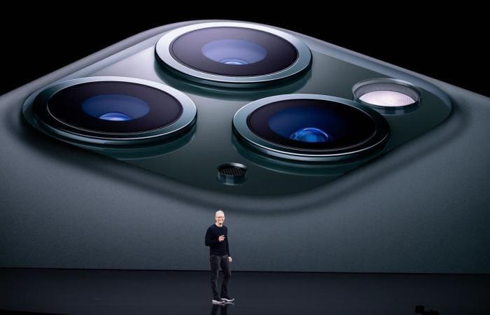 Tim Cook lors de la keynote d'Apple, le mardi 14 septembre 2021.