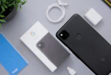 Un Google Pixel 4a, modèle précédent